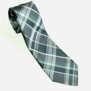 ARROW Men's Neck Tie Gray Plaid Necktie